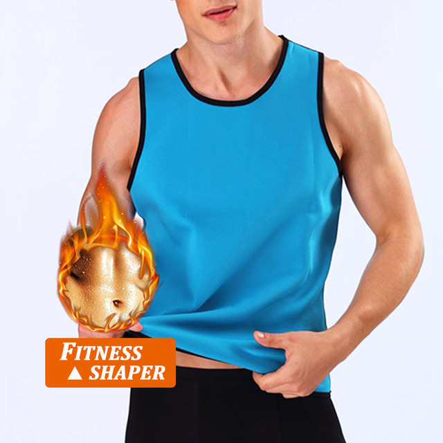 Men's Hot Sweat Shaper Sauna Pants Slim Shorts Body Shaper Slimming Vest With Belt Weight Loss Neoprene Fat Burner Sports Shorts 4