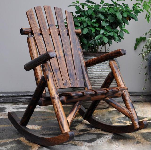 Outdoor  Wooden Rocking Chair  2