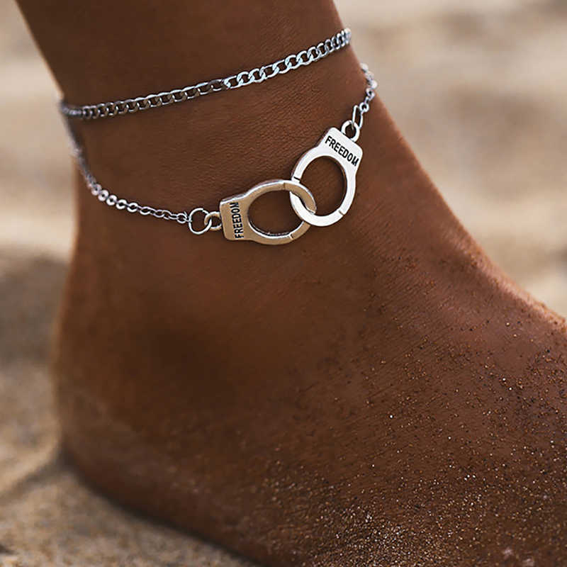 Boho Style Star Anklet Fashion Multilayer Foot Chain 2020 Fashion Handcuffs Ankle Bracelet For Women Beach Accessories Gift
