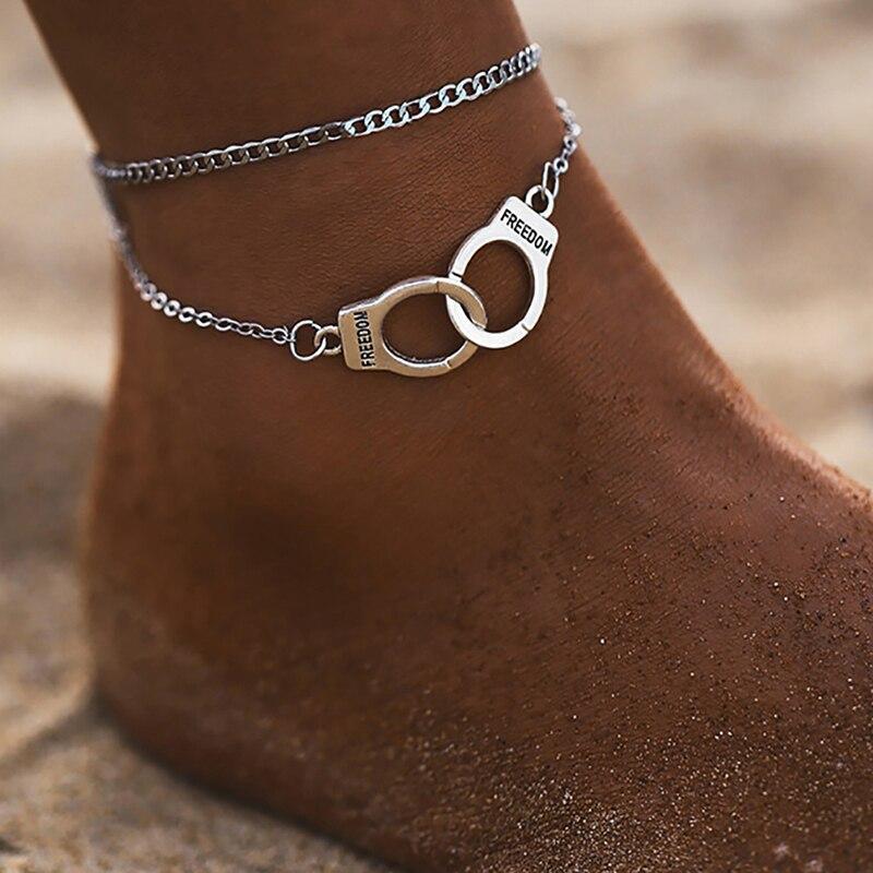 Модный многослойный браслет на ногу в стиле бохо со звездами 2019, модные наручники, браслет на лодыжку для женщин, пляжные аксессуары, подарок Анклеты      АлиЭкспресс - Топ аксессуаров с Али