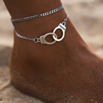 Boho Style Star Anklet Fashion Multilayer Foot Chain 2020 Fashion Handcuffs Ankle Bracelet For Women Beach Accessories Gift chic multilayer small bells anklet for women