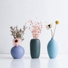 Скандинавская керамическая Маленькая ваза Современная красочная