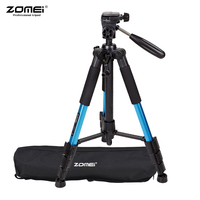 ZOMEI Lightweight Portable Aluminum Alloy Camera Travel Tripod with Quick Release Plate/ Carry Bag for Canon Nikon Sony DSLR