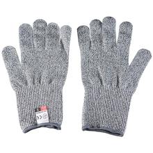 Порезостойкие перчатки Еда Класс 5 уровень защиты проволока металлическая перчатка Кухня резки защитные перчатки для рыбы мяса
