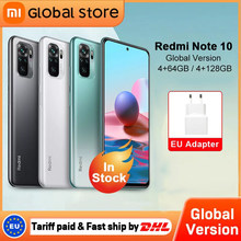 Versão global xiaomi redmi nota 10 4gb 64gb/4gb 128gb telefone snapdragon 678 amoled display 48mp quad camera 33w