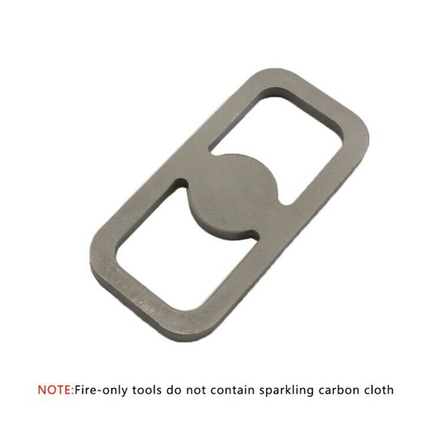 Practical Fire Starter Hiking Camping Primitive Gray Survival Tools Lighter Outdoor High Carbon Steel Home Exquisite Striker Kit
