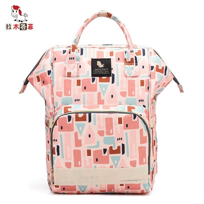 La Mu Each Phenanthrene New Style Nylon Waterproof Diaper Bag Multi-functional Nursing Large-Volume MOTHER'S Bag Travel Backpack