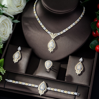 HIBRIDE Luxury Design Bridal Jewelry Set AAA CZ Dubai Jewelry Necklace Jewerly Sets for Women parure bijoux femme mariage N 894