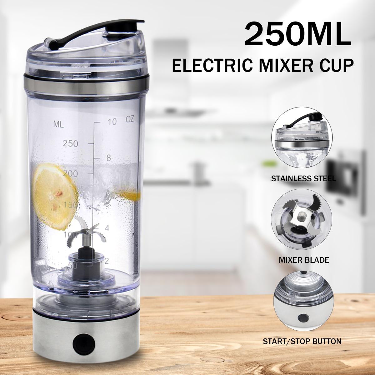 H8ccbe538293e4602a7e8f120b64df190u 2019 250ML Electric Protein Shake Stirrer USB Shake Bottle Milk Coffee Blender Kettle Fitness Vortex Tornado Smart Mixer
