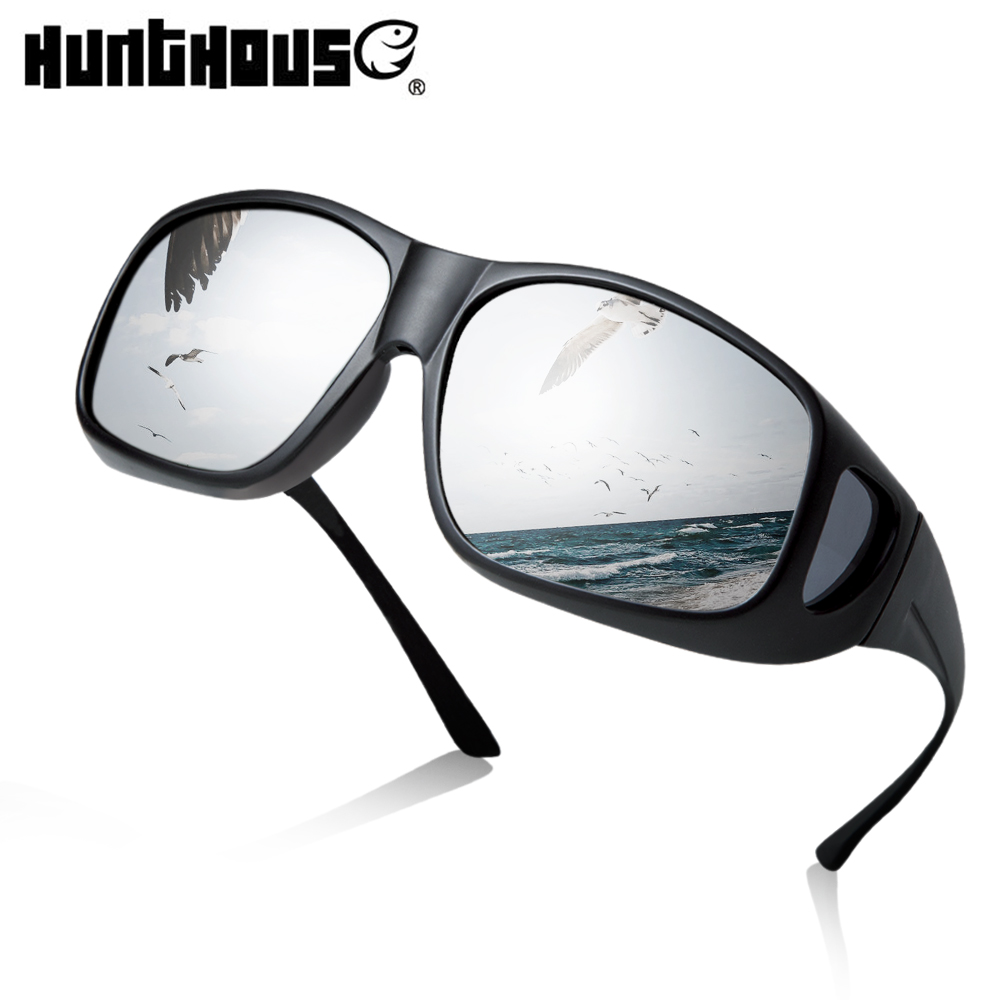 Hunthouse Polarized Fishing Glasses Outdoor Sports Sunglasses Men Women Camping Hiking Driving Cycling Eyewear