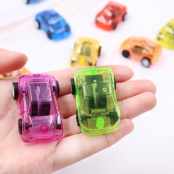 Kids Pull Back Car Set Plastic Transparent Engineering/ Fire cars Toys Candy Color Birthday Play Vehicle Toys Boys игрушки image