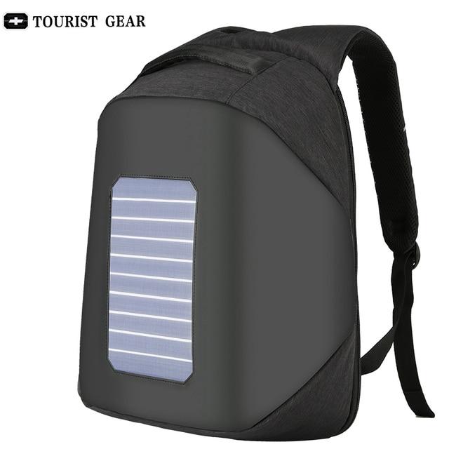 10W Solar Powered Designer bagpack men mochila usb charging anti theft backpack Travel 15.6'' laptop backpack women waterproof 1