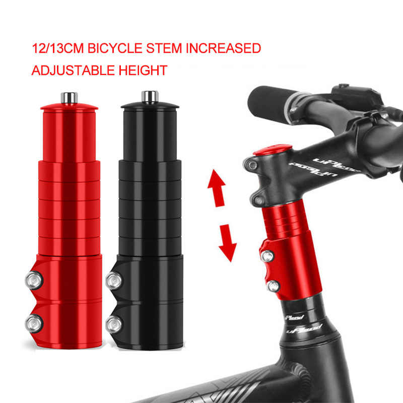 12/13cm Bicycle Handlebar Extender Bike Stem Increased MTB Bike Fork Stem Rise Up Extension Adapter Bicycle Parts Accessories