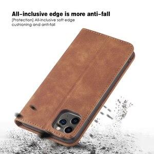 Image 5 - Skórzany pokrowiec na telefon iPhone 12 Pro Max 12Mini 12Pro magnetyczny pokrowiec na iphone 11Pro Max 11Pro z uchwytem 11Pro iphone 12