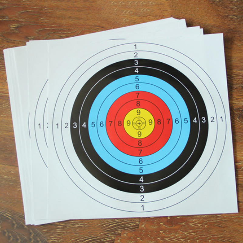 Profession Shooting Target Paper Bow Arrow Gauge 60*60CM Colorful Useful