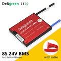 Deligreen 8 s 24 v 18a 25a 35a 45a 60a bms para o bloco da bateria lifepo4 do lítio lincm