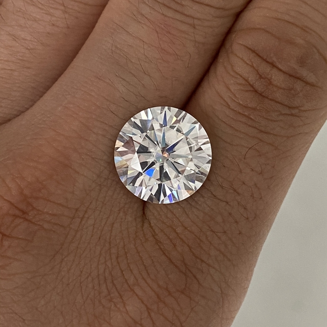 Grown diamond stone 14mm D Color 10ct VVS1 Excellent Cut loose Moissanite stone for fashion Ring  Jewelry Making DIY