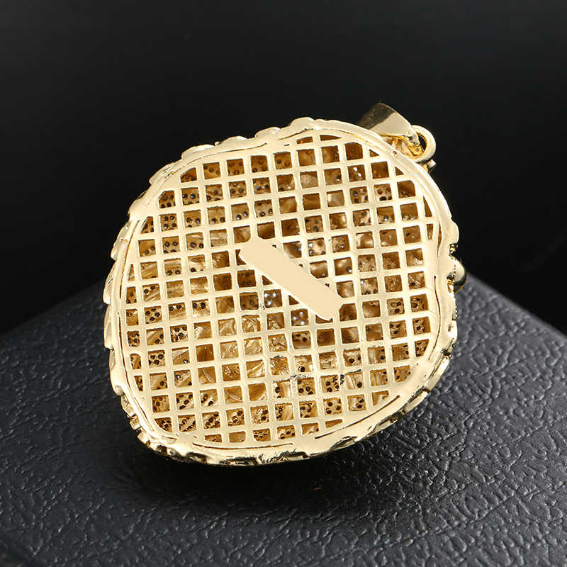 Iced OUT Micro Pave Cubic Zircon Lion HEAD จี้สร้อยคอสำหรับผู้ชายเครื่องประดับ Hip Hop แฟชั่นออกแบบ ROCK แฟชั่นเครื่องประดับของขวัญ