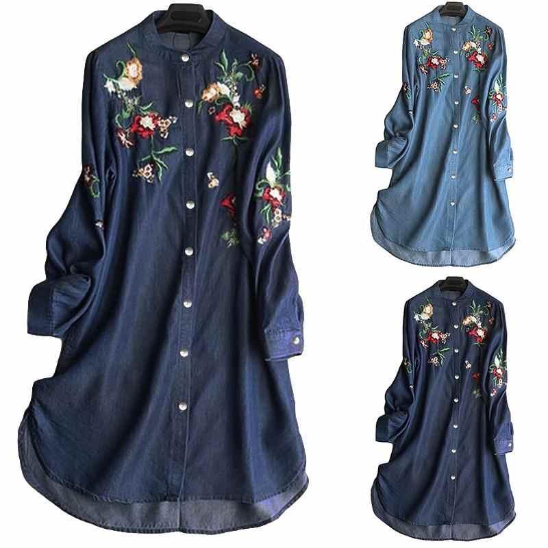 ZANZEA Women Casual Wrap Top Tee Shirt Chinese Style Vintage Long Sleeve Blouse