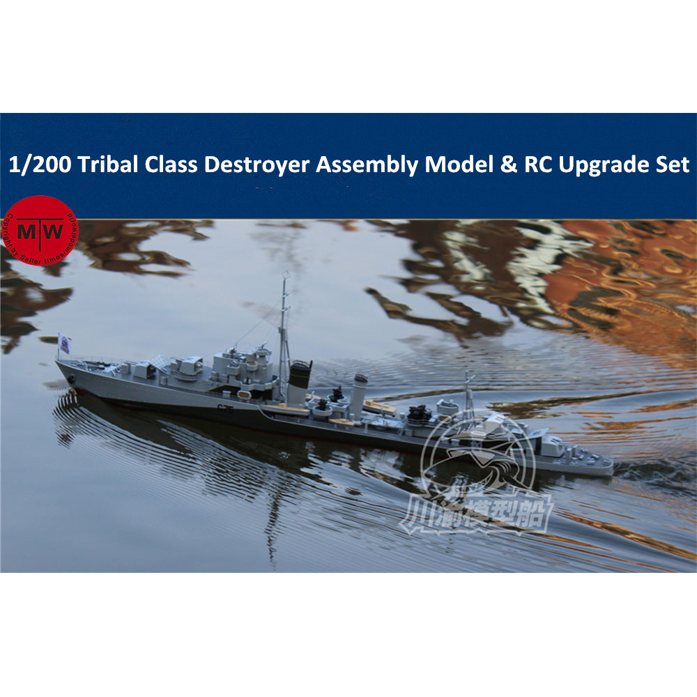 1/200 Scale Tribal Class Destroyer Assembly Model & RC Upgrade Set
