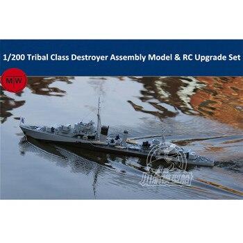 1/200 skala Tribal Class Destroyer Model montażowy i zestaw do aktualizacji RC