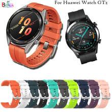 Sport Siliconen 22 Mm Horloge Band Strap Voor Huawei Horloge Gt 2 46 Mm Smartwatch Vervangende Polsband Voor Huawei Horloge gt 42 Mm 46 Mm