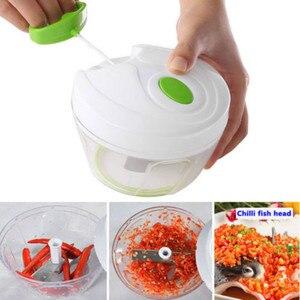 Image 2 - 500ml Manual Food Processor Shredder Vegetable Meat Chopper Slicer Mincer Tool