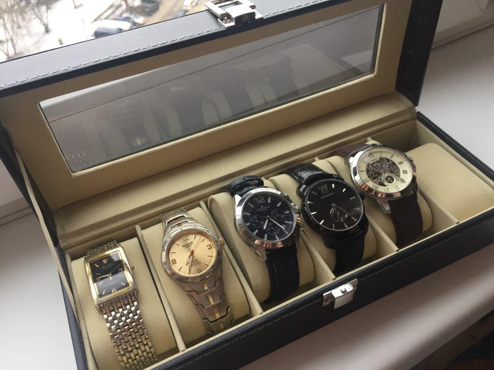 Image 5 - Window Organizer Box for Save 6 Wrist Watches Box Jewelry Display Case Storage Holderbox for watchesboxes for watches wristwrist watch box -