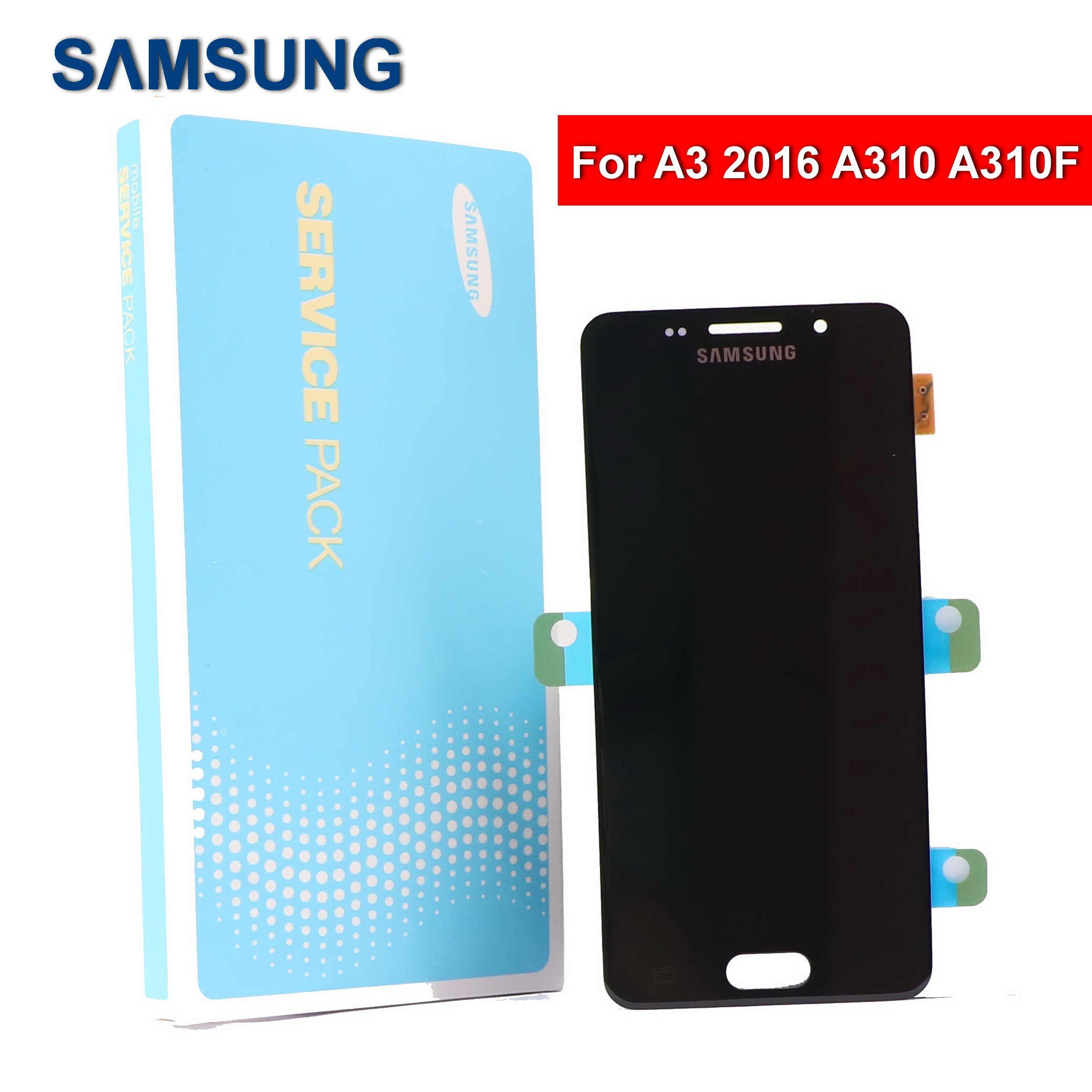 100% Original 4.7'' SUPER <font><b>AMOLED</b></font> For SAMSUNG Galaxy A3 2016 A310 <font><b>A310F</b></font> A3100 Phone LCD <font><b>Display</b></font> Touch Screen Digitizer Assembly image