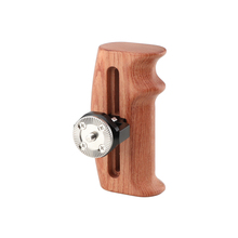 Kayulin Adjustable Wooden Handgrip With Rosette Mount M6 Thumbscrew Connection For DLSR Camera Cage Kit (Either Side)