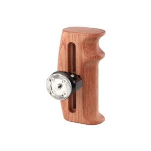 Image 2 - Kayulin מתכוונן עץ לחיצת יד עם רוזט הר M6 בורג פרפר חיבור עבור DLSR מצלמה ערכת כלוב (או בצד)
