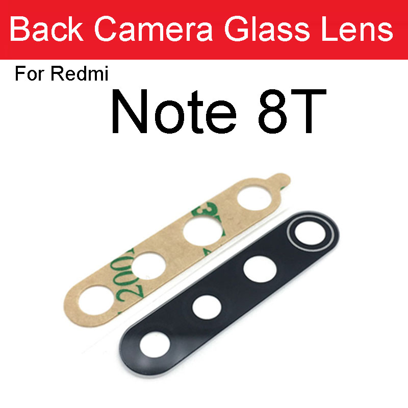 2pcs For Xiaomi Redmi Note 8T Back Camera Glass Lens Rear Camera Glass With Adhesive Sticker Glue For Redmi Note8T Repair Parts