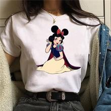 ERNESTNM New Fashion Cartoon Printed Women T-shirt Breathable Short-sleeved Female Clothes Loose Harajuku Ladies Top