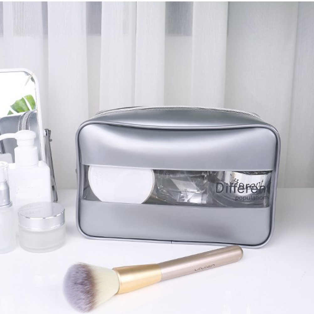 Washable Storage Splice Stereoscopic Multifunctional Portable Travel Bathroom Makeup Fashion Transparent Cosmetic Bag Waterproof