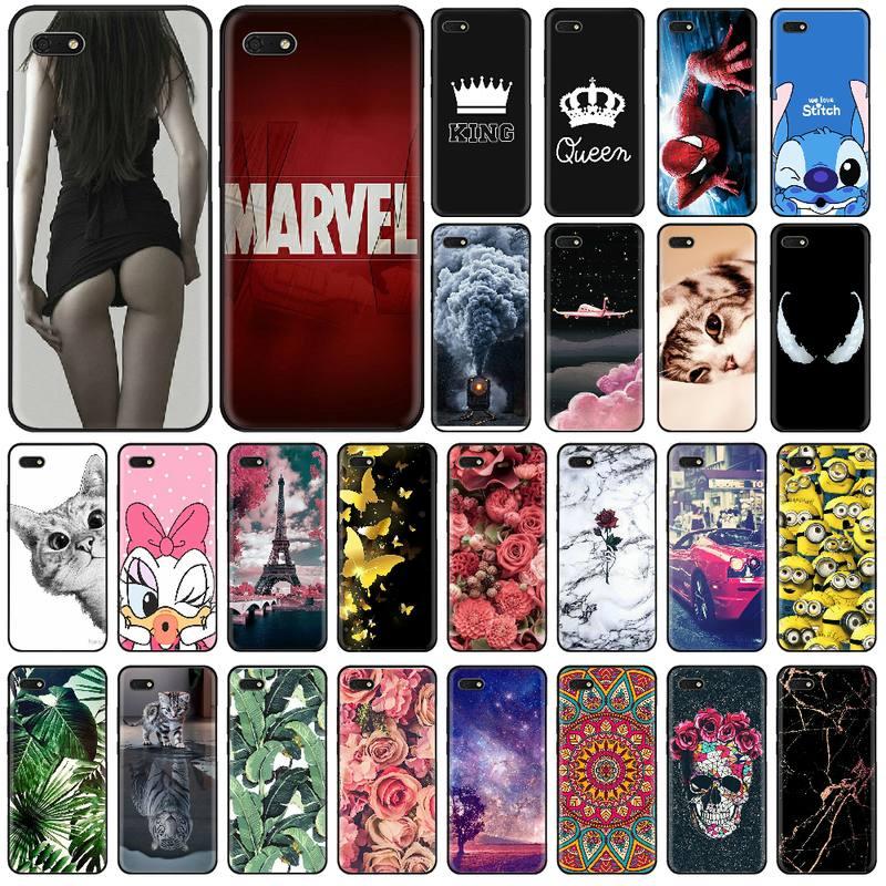 Phone Capa Silicone case For Huawei Honor 7A Case pro 5.45 5.7 inch Soft Tpu 7A 7 A DUA L22 Russian version Back Cover bag