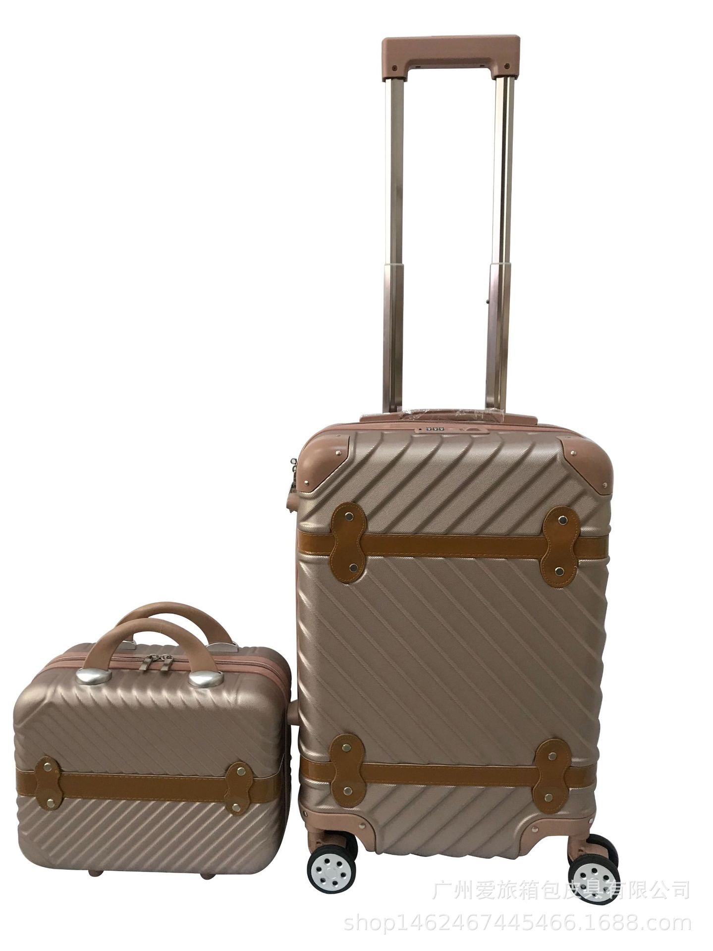 Manufacturers Direct Selling Business Luggage And Suitcase Travel Trolley Printed Luggage With Universal Wheel Outside Travel Bo
