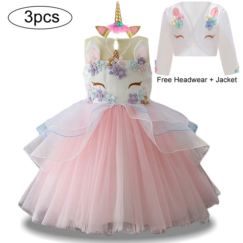 Parti Infant Girls Licorne Robe Vacances arc en ciel Licorne Princesse Costume