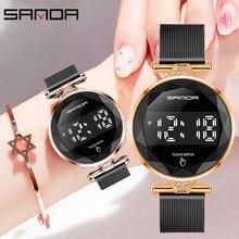 Luxury Top Brand SANDA Women Digital Watches Fashion Electro
