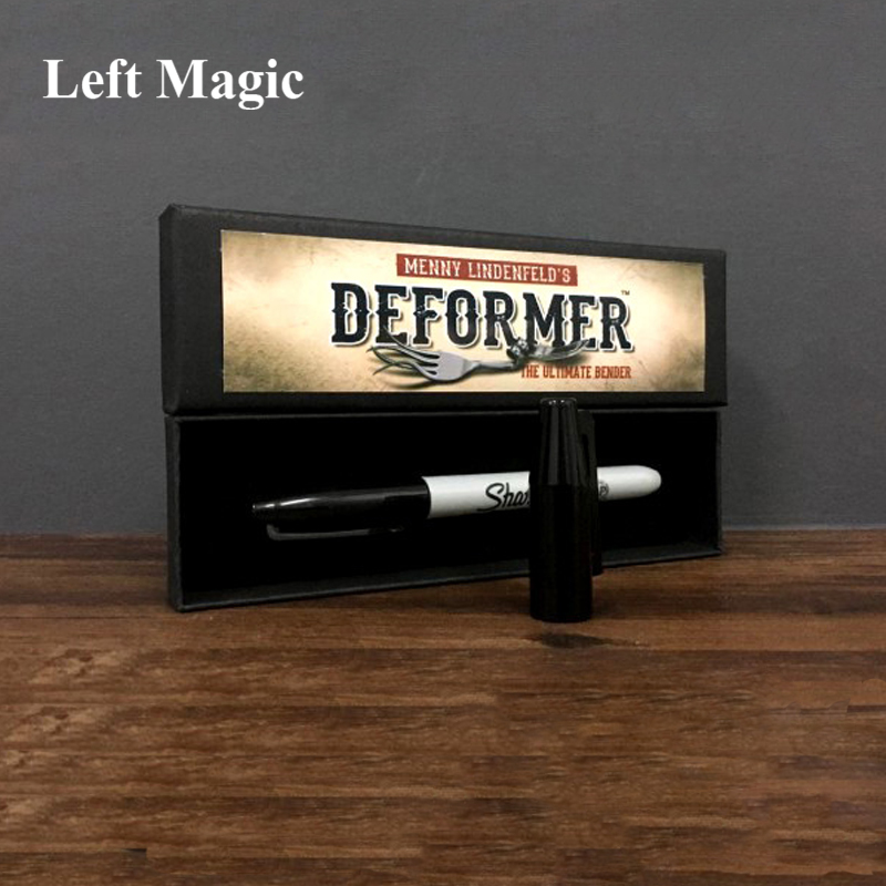 Deformer By Menny Lindenfeld (Gimmick Pen And Online Instruct) Mentalism Magic Tricks Comedy Coin Bending Illusions Magic Props