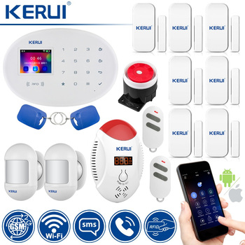 KERUI W20 Smart Home Alarm WIFI GSM RFID Card Security Alarm System With 2.4 inch TFT Touch Panel Motion Detector Alarm 1