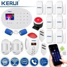 Охранная сигнализация KERUI W20 с сенсорной панелью 2,4 дюйма, Wi Fi, GSM, RFID