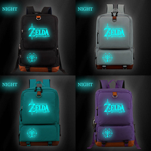 The Legend of Zelda Cool Luminous Backpack Fashion Students Boys Girls Bags Casual High Quality Travel Knapsack for Teens Men