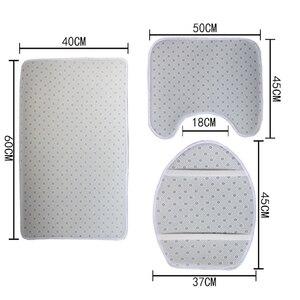 3 teile/satz Kaktus Design Druck Wc Sitz Abdeckung Flanell Stoff Wc Fall Bad Nicht-slip Matte Hause Dekoration Produkte