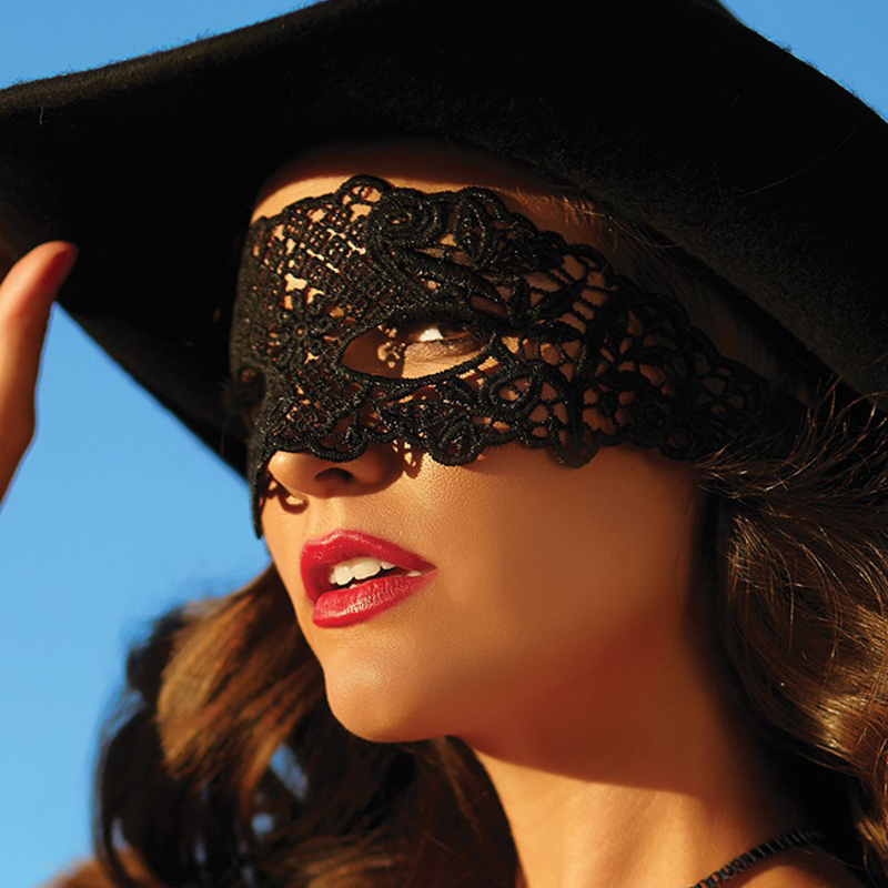 Hollow Lace Mask Erotic Costume 4