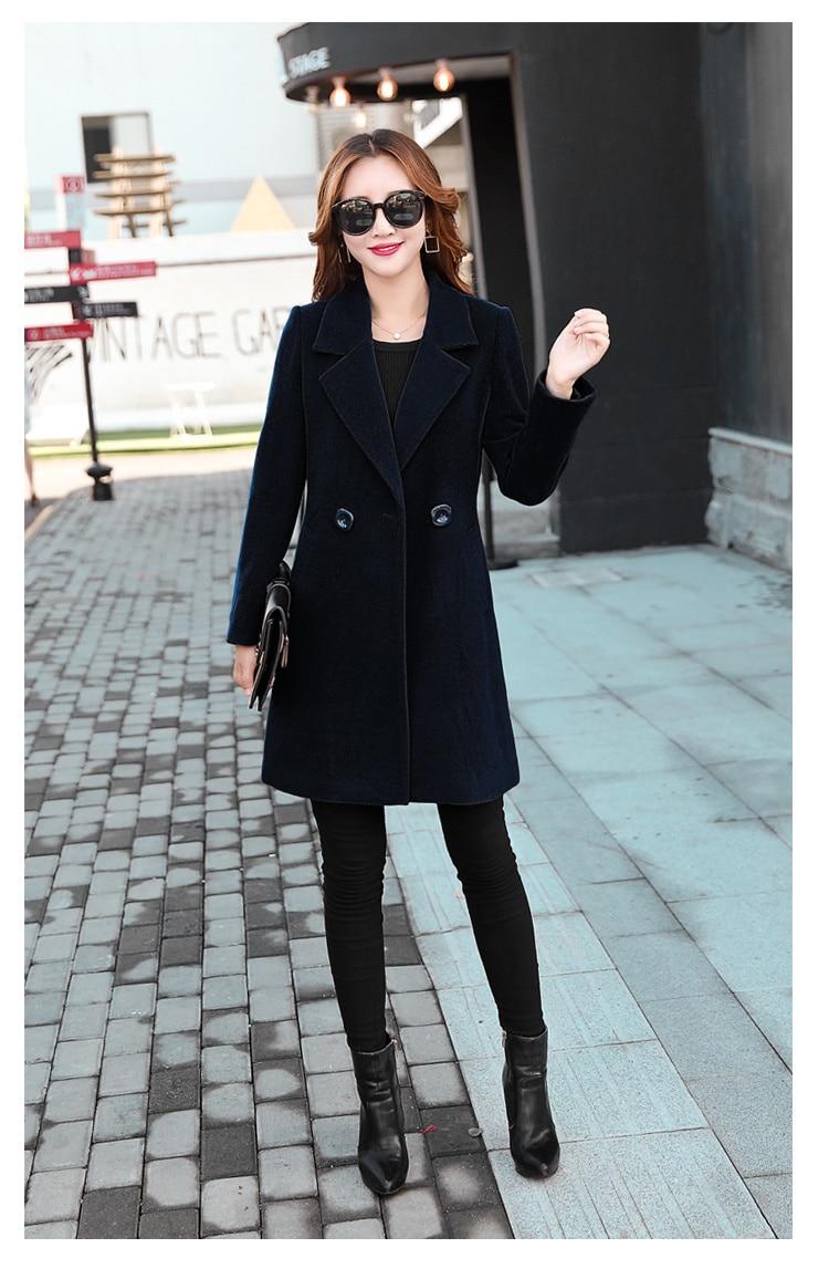 YICIYA Winter autumn Coat Women Wool Jacket Long Oversized Coats Plus Size Large Black Blend Woolen Warm Outerwear 2019 Clothing 47