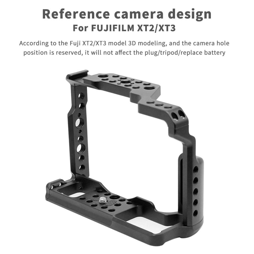 CNC Aluminum Camera Cage For Fujifilm X-T3 /XT3 /XT2 /X-T2 DSLR Stabilizer Rig Protective Case Quick-release Support Photography