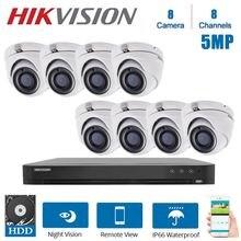 Hikvision английский 8ch dvr видеонаблюдение и гибрид 8 piece
