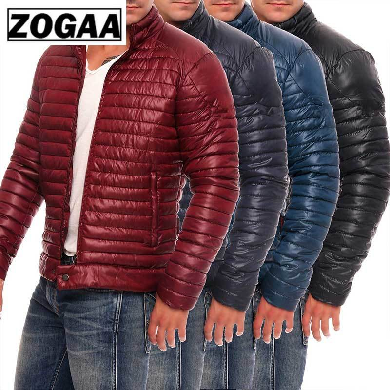 ZOGAA Men's Winter Casual Parka New Thick Padded Jacket Zipper Slim Male Fashion Coats Men's Parka Outwear Warm Coats Warm