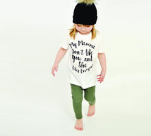 Camiseta blanca de manga corta de verano para niños con estampado de moda My Mama Don't Like You She Like Everyone(China)