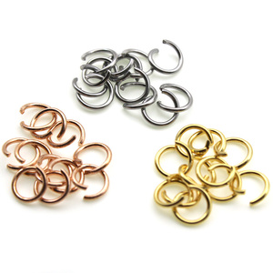 Открытое кольцо из нержавеющей стали цвета розового золота, соединительное кольцо с разрезом для браслета, сделай сам, 100 шт., 0,6 мм, 3, 4, 5, 6 мм